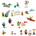LEGO® set: 60153 - People pack ? Fun at the beach