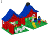 LEGO® set: 376 - House with Garden