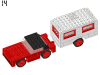 LEGO® set: 379 - Car and caravan