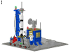 LEGO® set: 483 - Alpha-1 rocket rase