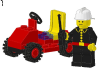 LEGO® set: 6611 - Fire Chief's Car