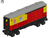 LEGO® set: 7819 - Postal Container Wagon