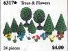 LEGO® set: 6317 - Trees and flowers