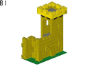 wall 3 - 375 - LEGO® building instruction step