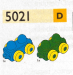 LEGO® set: 5021 - Green and blue train cars
