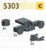 LEGO® set: 5303 - Buffers, magnets and couplers