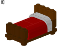 null - Bed 2 - LEGO® building instruction step
