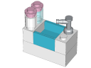 3930 - Sink.ldr - 3930 Stephanie's Outdoor Bakery - LEGO® building instruction step