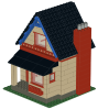 Building instructions for Little houser with steep roof